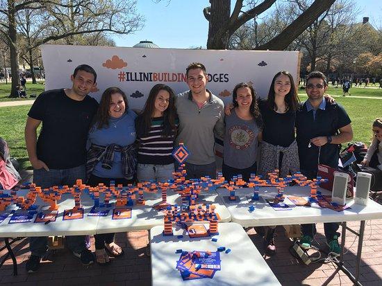 Urbana, IL: University of Illinois Main Quad Illini Building Bridges RSO Student Activities