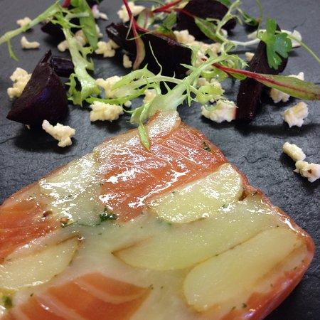 Ivinghoe, UK: Gravadlax, Beetroot and Horseradish