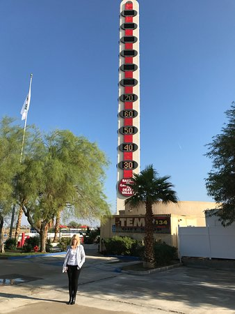 World's Tallest Thermometer: Over 70 degrees on 25 October