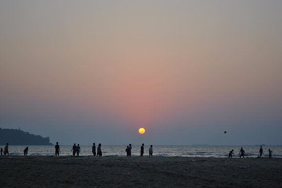 Panjim, Indien: Beautiful Sunset at Miramar!