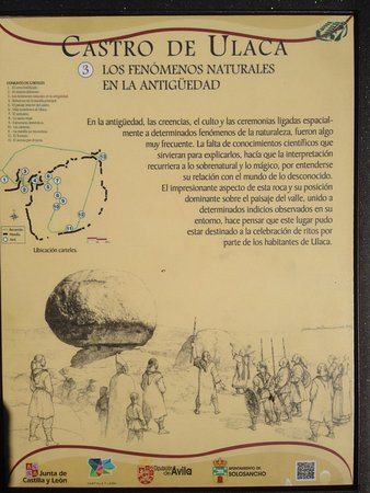 Solosancho, Spain: Indicaciones que se pueden encontrar a lo largo del castro