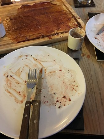 Wotton-under-Edge, UK: Perfect steak! All gone 😁👍🏻