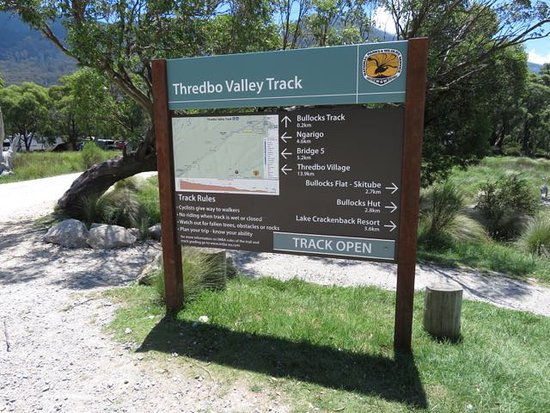 Thredbo Village, Australia: Sign for the track at Thredbo Diggings
