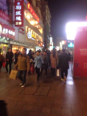 Pedestrians street in Hefei