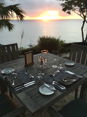 Guana Island: Best views while dinning