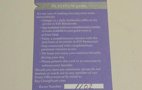 Hyatt Regency Toronto: Platinum perks