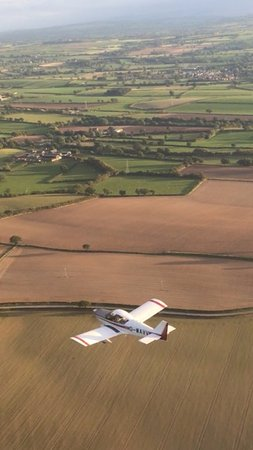 Crosby on Eden, UK: G-WAVVfrom above.