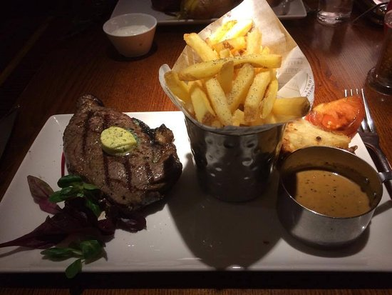 Abridge, UK: 12 ounce sirloin