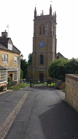 The cafe is adjoining Blockley`s beautiful church