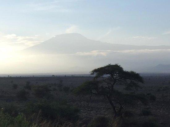 Amboseli National Park, Kenya: Kilimanjaro through the clouds