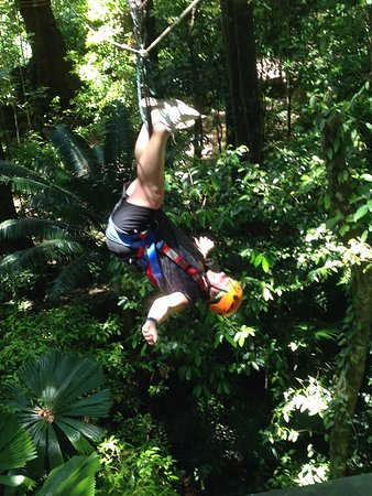 Cape Tribulation, Australia: Last zip of the day, well we were down under!