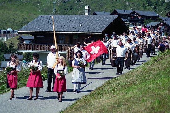 Aletsch Glacier: Le 1er août fête nationale