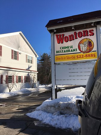 Sanbornville, NH: Wontons Sign
