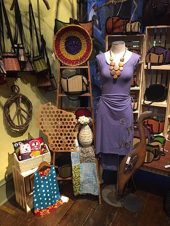 Princeton, WI: Assortment of products found at daiseye including women's clothing and beer cap maps