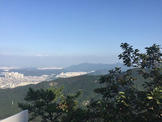 Apsan Park- hiking with a view of Daegu. Don't miss this lovely experience. Truly awesome!