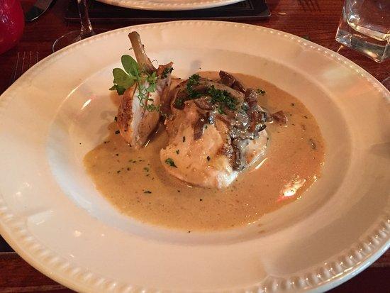 Isabels: Wild Mushroom Pâté  Breast Chicken with wild mushroom sauce  Pork tenderloin with Calvados sauce