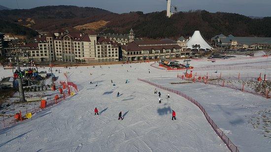 Pyeongchang-gun, Coréia do Sul: view from ski lift