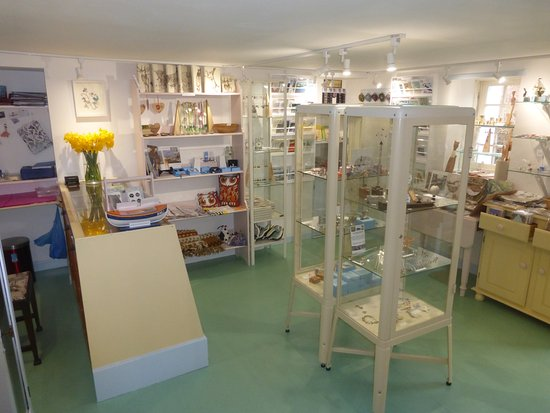 Interior of gallery48 giftshop, Cromarty