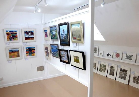 On of our upstairs galleries at gallery48, Cromarty
