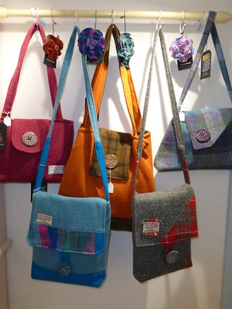 Harris Tweed handbags and purses at gallery48, Cromarty