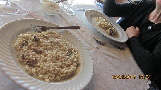 Mornico Losana, Itália: risotto funghi