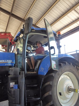 Mossman, Australia: Giant tractor for cutting and planting with inbuilt satellite navigation