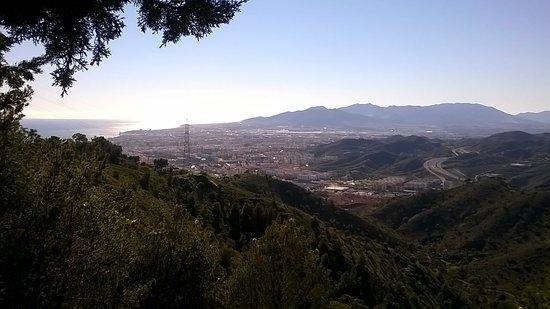 Provincia de Málaga, España: Vistas de Málaga desde el parking