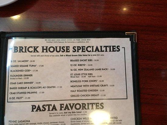 Davidson, NC: Part of the menu