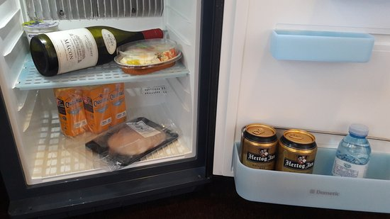 Hotel Leeuwenbrug: I stocked my bar fridge with items I had bought at Albert Heijn supermarket