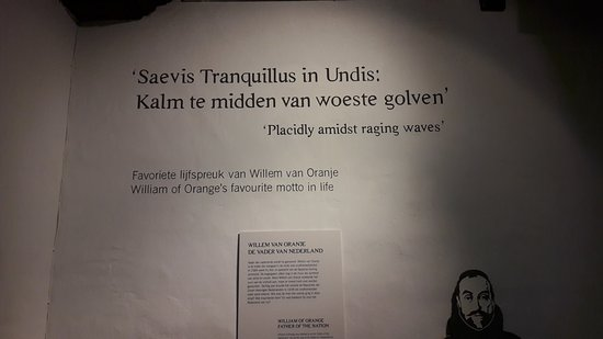 Museum Prinsenhof Delft: Wis words on the wall
