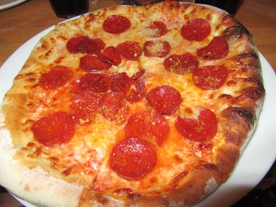 My oldest's pepperoni pizza. She said it was good.