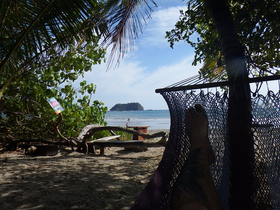 Casitas LazDivaz: Best seat in the house, the relaxing hammocks!