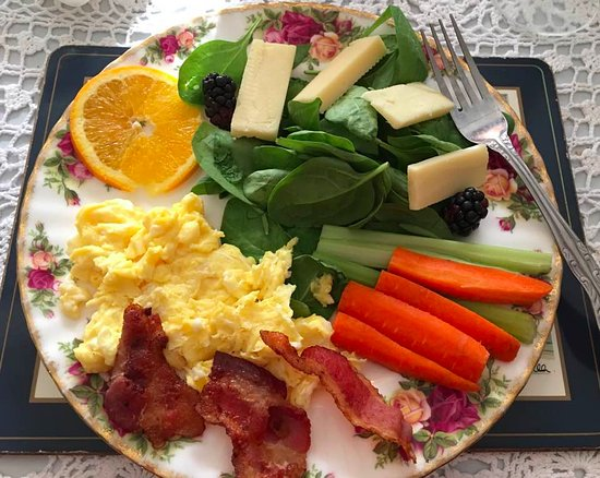 Riverside Victorian Bed & Breakfast: My delicious low carb breakfast
