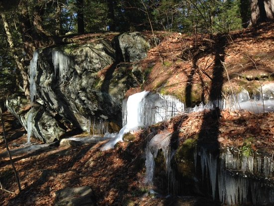 Monterey, MA: Benedict Pond Trail ice