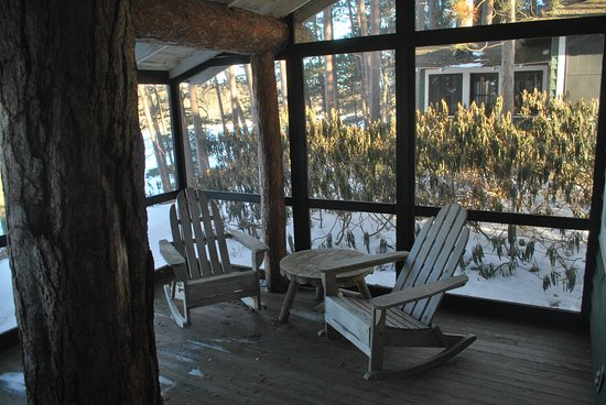 Paul Smiths, NY: President's screened in porch