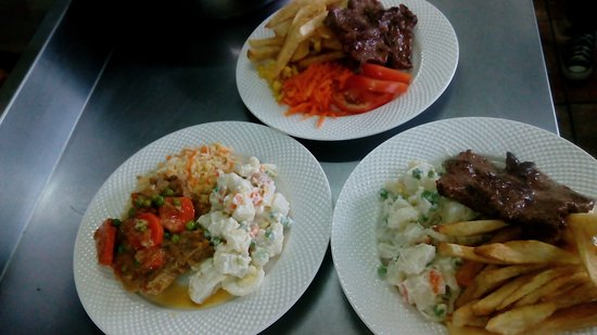 Patagonia food: 3 platos de menu diario