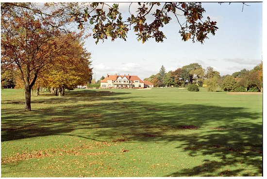 Ormskirk, UK: 18th Hole from the Clubhouse