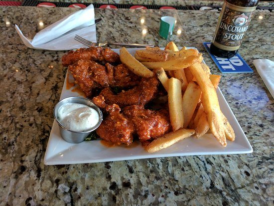 Rochelle, IL: Garlic parm tenders with fries