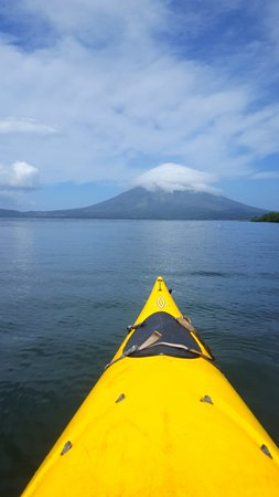 Rio Istian: The paddle out with perfect views of Volcano Concepcion