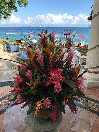 Sandals Royal Plantation: Beautiful floral arrangement