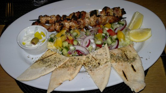 Cannock, UK: chicken souvlaki