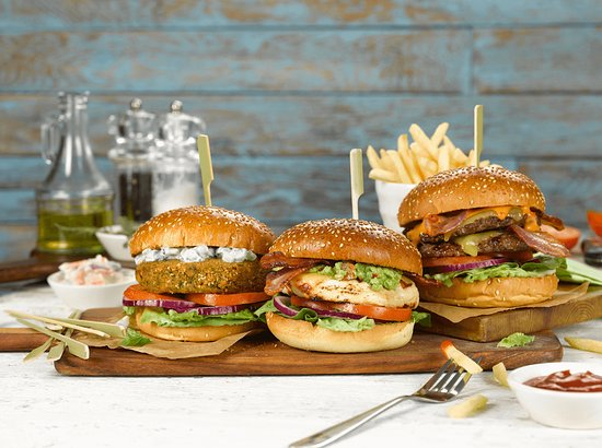 Corby, UK: Mouthwatering burgers