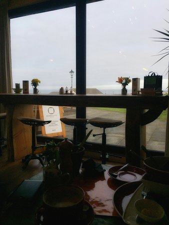 The MiniMen Events Agency visiting Stacks Coffee House & Bistro at John O'Groats for some Vegan