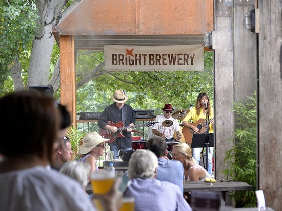 At Bright Brewery there's free live music every Sunday afternoon