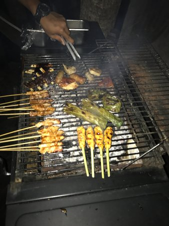 West Bali National Park, Indonesia: private BBQ dinner
