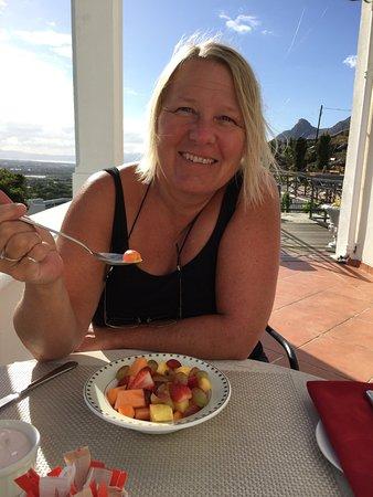 Tokai, جنوب أفريقيا: Breakfast on the veranda.