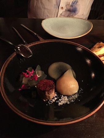 Pla: Foie gras et poire
