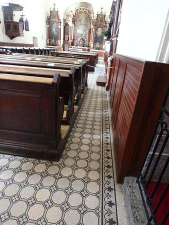 Tile Floors Dark Wood Pews Picture Of