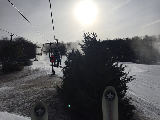Warwick, NY: Lift to smaller hill and terrain park