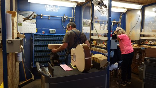 Nazareth, PA: Workers assembling guitars